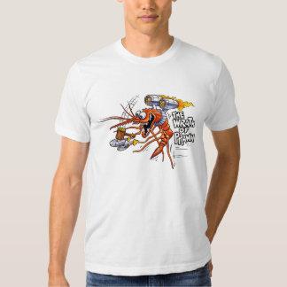 La cólera de la camiseta del blanco de la gamba poleras