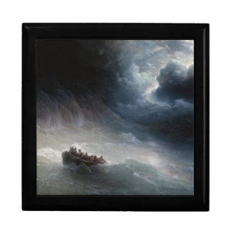 La cólera del paisaje marino de Ivan Aivazovsky de Joyero Cuadrado Grande