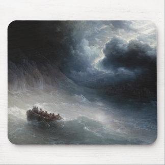 La cólera del paisaje marino de Ivan Aivazovsky de Mousepads