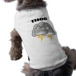 La cólera del Thor Camisetas De Perro