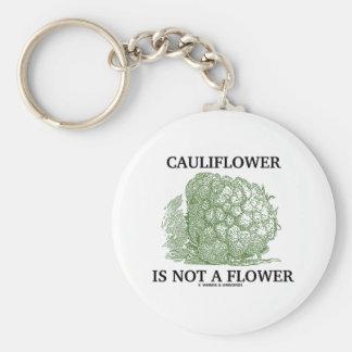 La coliflor no es una flor (la materia en que llavero redondo tipo pin