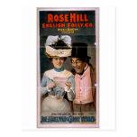 La colina color de rosa, 'leyó esa línea pasada so postales