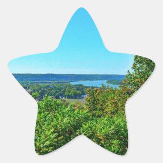 La colina del mayordomo pasa por alto pegatina en forma de estrella