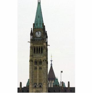La colina del parlamento de la torre de reloj fotoescultura vertical
