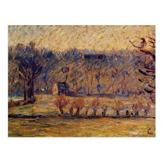La colina en Vaches, Bazincourt de Camille Pissarr Postales