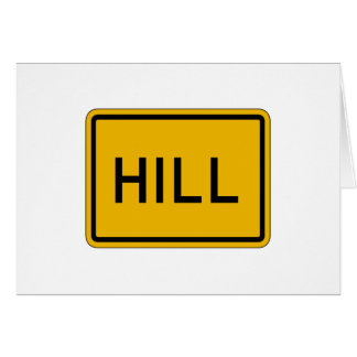 La colina (texto), trafica la señal de peligro, tarjeta de felicitación