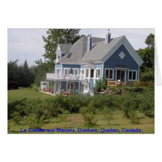 La Colline aux Bleuets - Dunham, Quebec (B&B) Stationery Note Card