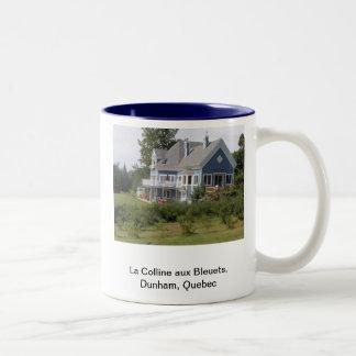 La Colline aux Bleuets - Dunham, Quebec (B&B) Two-Tone Coffee Mug