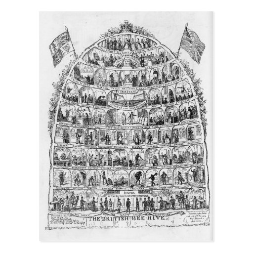 La colmena británica, 1867 tarjeta postal