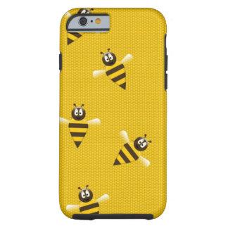 La colmena de la miel de la abeja se divierte funda resistente iPhone 6