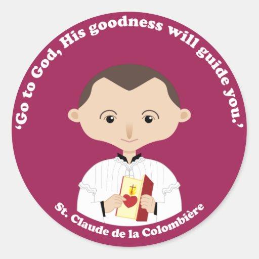 La Colombiere del St. Claude Pegatina Redonda