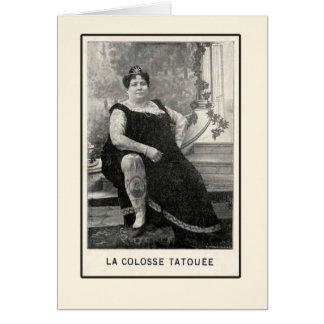 La Colosse Tatouee Cards and Postcards