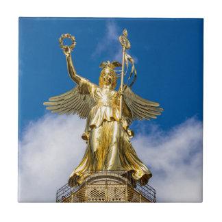 La columna de la victoria en Berlín en Alemania Azulejos