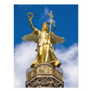 La columna de la victoria en Berlín en Alemania Membrete A Diseño