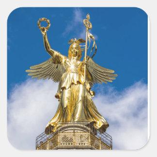 La columna de la victoria en Berlín en Alemania Calcomanía Cuadradas Personalizadas