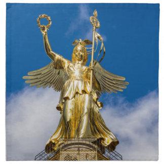 La columna de la victoria en Berlín en Alemania Servilleta