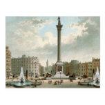 La columna de Nelson, cuadrado de Trafalgar, Londr Postal