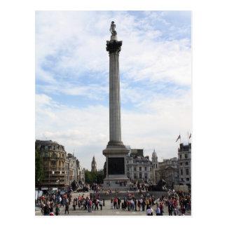 La columna de Nelson, cuadrado de Trafalgar Postal