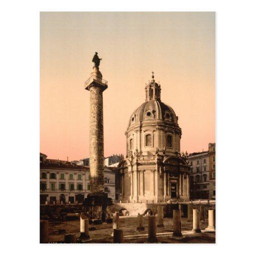 La columna de Trajan, Roma, Lazio, Italia Tarjetas Postales