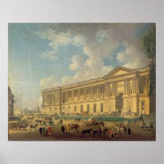 La columnata del Louvre. c.1770 Posters
