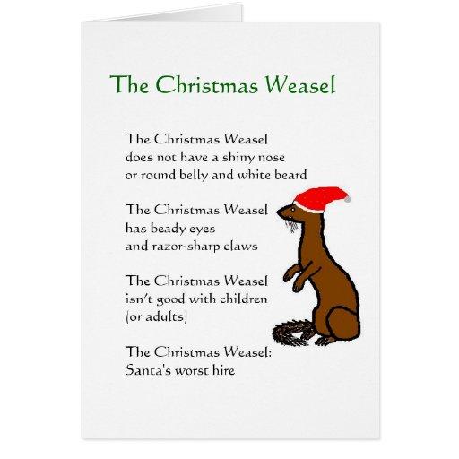 La comadreja del navidad tarjeta de felicitación