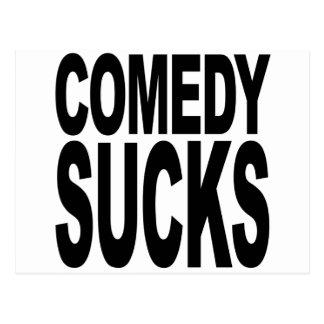 La comedia chupa postales