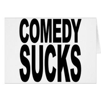 La comedia chupa tarjeta de felicitación