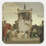 La comedia humana, c.1852 pegatina cuadradas personalizada