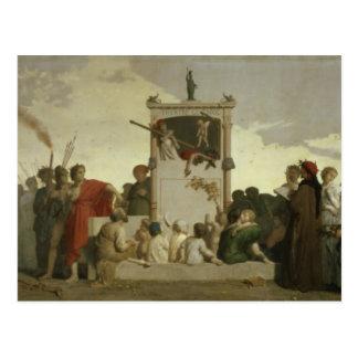 La comedia humana, c.1852 postales