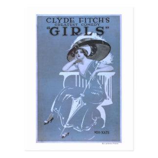 La comedia más grande de Clyde Fitch, teatro de Tarjeta Postal
