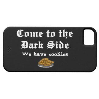 La comedia viene al lado oscuro iPhone 5 Case-Mate cárcasa