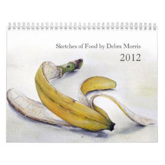 La comida bosqueja el calendario