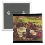 La comida campestre, c.1881-2 pin cuadrado