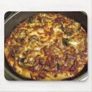 La comida de la pizza que cocina el bróculi prolif tapetes de raton