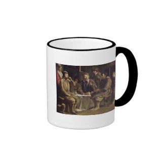 La comida del campesino, 1642 taza de café