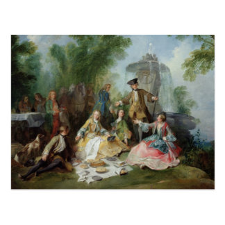 La comida del fiesta de la caza, C. 1737 Postales
