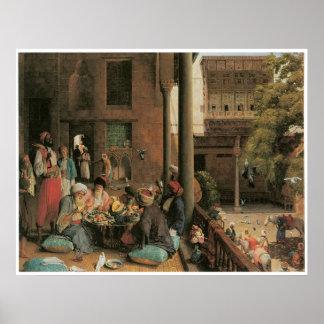 La comida del mediodía, Cario, 1875 Póster