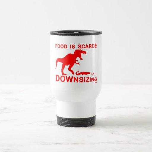 La comida es escasa, reduciendo la talla tazas de café