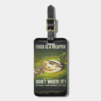 La comida es un arma no pierde etiquetas para equipaje