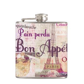 La comida francesa de Appétit del Bon redacta arte Petaca