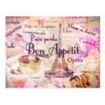 La comida francesa de Appétit del Bon redacta la d Tarjetas Postales
