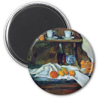 La comida fría de Paul Cézanne la mejor calidad Imanes De Nevera
