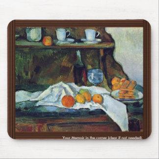 La comida fría de Paul Cézanne (la mejor calidad) Alfombrilla De Ratón