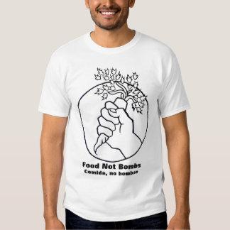 la comida no bombardea la camiseta del blanco 2 camisas