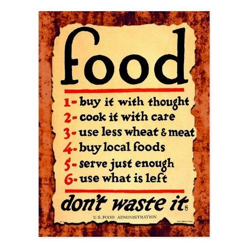 La comida, no lo pierde postal