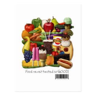 ¡La comida nunca probaba tan buena!  El gluten Tarjetas Postales