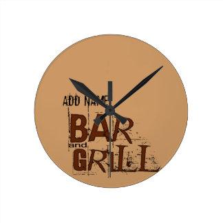 La comida personalizada del papá del Bbq del bar y Reloj Redondo Mediano