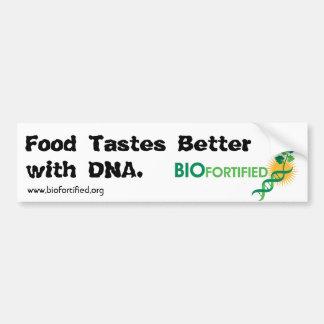 La comida prueba a una mejor pegatina para el para etiqueta de parachoque