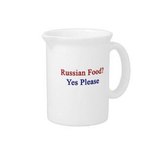 La comida rusa satisface sí jarras para bebida
