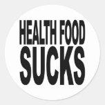 La comida sana chupa pegatinas
